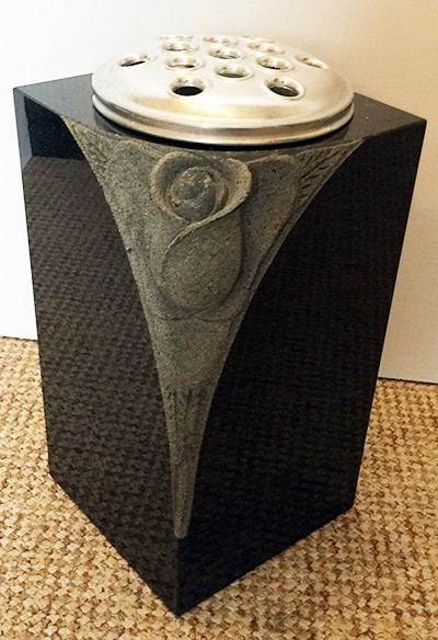 Carved Rose Vase